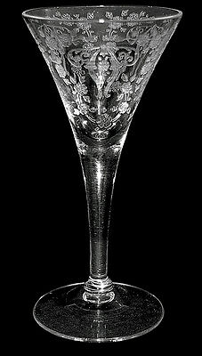 Cambridge Diane #7966 Crystal Cone Shaped Sherry