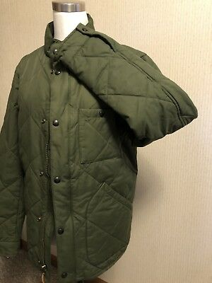 J Crew Men Sussex Quilted Thermal Insulated Jacket Dark Olive Green Sz S NWT
