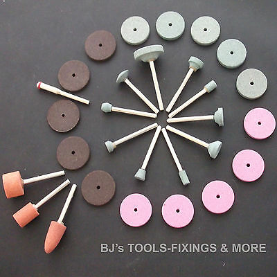 29 Piece Grinding Stones & Disc Kit Rotary Tools Dremel Accessories Tool