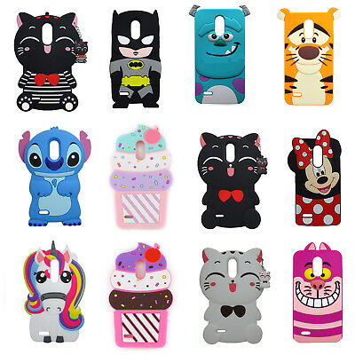3D Cartoon Soft Silicone Rubber Case Cover For LG Stylus 3 Stylo 3 K10 Pro LS777