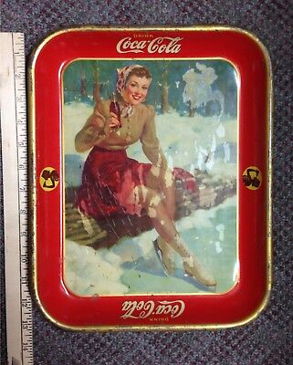 Vintage 1941 Drink Coca-Cola Tray By The American Art Works, Inc. Coshocton, OH