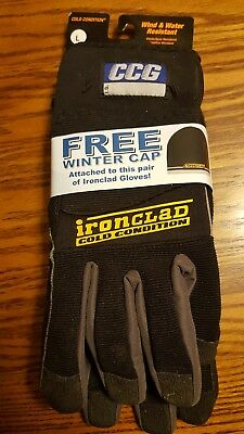 IRONCLAD CCG Cold Condition CCG-04-L Dupont Work Gloves Large Free Shipping USA