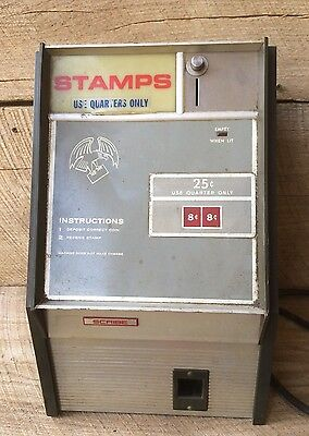 USPS Postal Stamp Vending Machine Dispenser Scribe Electric Antique  Vintage