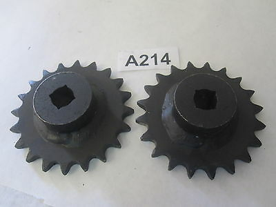 Lot of 2 Truax Co. Martin 20T Sprockets 40A20 1-1/4""