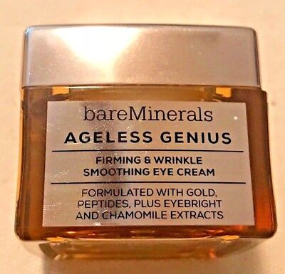 596d7d762c6e BareMinerals AGELESS GENIUS FIRMING   WRINKLE SMOOTHING EYE CREAM NEW W O  BOX