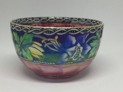 Maling Bowl Wild Flowers Pink Lustre Sugar Bowl Newcastle