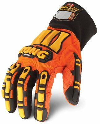 KONG Genuine Ironclad Safety Impact BEST Work Gloves Hand Protection Oils LARGE