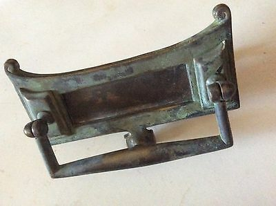 Vintage art nouveau cast brass letter box /door knocker