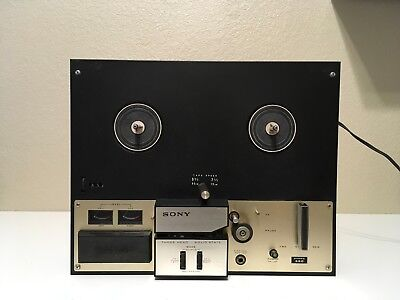 Vintage Sony Stereo TC 350 Reel-to-Reel Player 4-Track 2-Speed