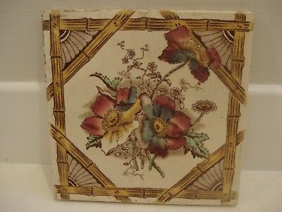 Vintage/ Victorian/ Antique/ Period -Transfer Print Fireplace Tile - Japanese/ B
