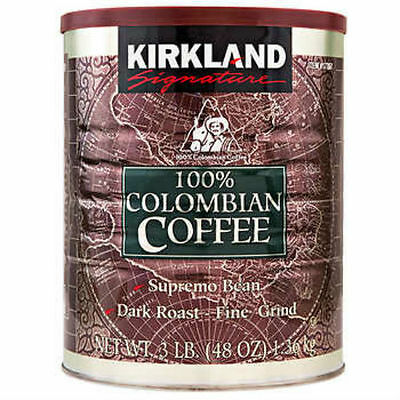 Kirkland 100% Colombian Coffee Supremo Bean Dark Roast Fine Grind 1.36Kg