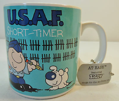 1987 Ziggy Military Air Force Short Timer USAF Designers Collection Coffee Mug