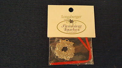 Longaberger Homestead Pewter Christmas Peace on Earth Tie On Ornament NEW