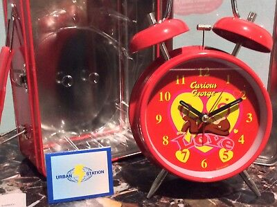 NEW IN TIN BOX CURIOUS GEORGE LOVE TWINBELL ALARM CLOCK Urban Station