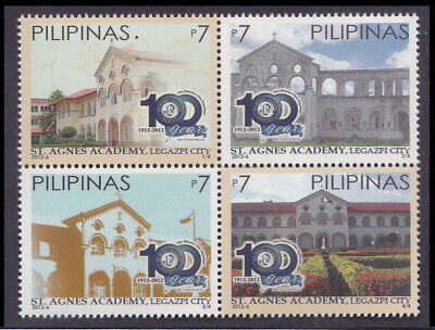 Philippines Stamps 2012 MNH St. Agnes Academy complete set