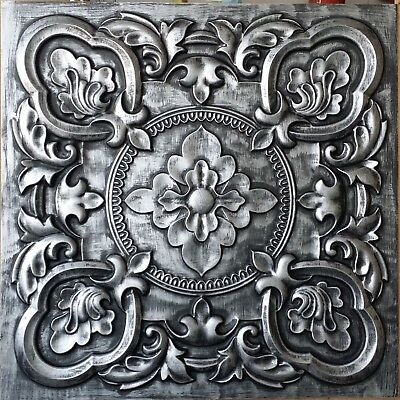 Antique tin ceiling tile cafe saloon bar KTV decor wall panel PL30 pack of 10pcs