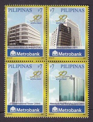 Philippines Stamps 2012 MNH Metrobank complete set
