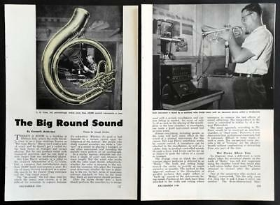 1959 Conn factory pictorial *Big Round Sound* Brass Instruments