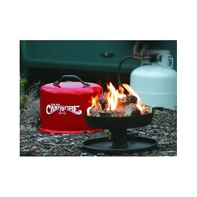 Portable Camp Fire Gas Propane Outdoor Camping Patio Backyard Deck Little Red