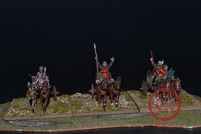 1/56 28mm DPS Painted Ancient Gallic or Celtic Chariots 5005