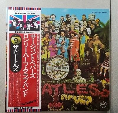 Japan Japanese The Beatles Sgt Peppers Sealed In Original Plastic Lp Record V20