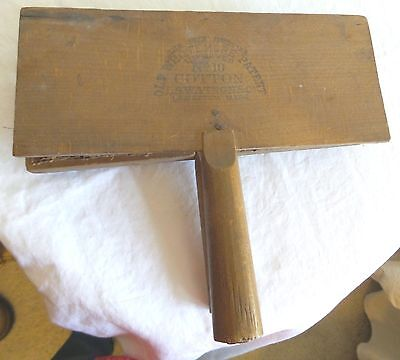 Pair Of Genuine Old Whittemore Patent #10 Cotton Carding Paddles