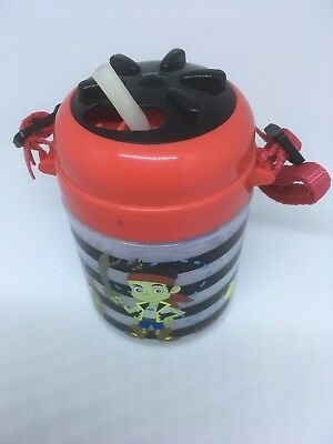 JAKE AND THE NEVERLAND PIRATES  DRINK CUP/BOTTLE WITH STRAW - 400ml - BNWOT