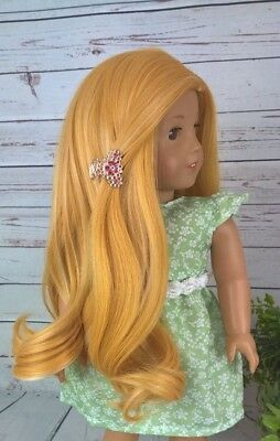 10-11 Custom Doll Wig fit Blythe-American Girl-1/4 Size Doll GOLD RUSH SWIRL bn1