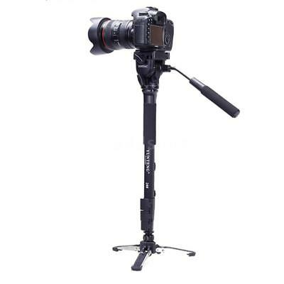 YUNTENG VCT-288 Photography Tripod Monopod & Fluid Pan Head & Unipod Holder U4X3