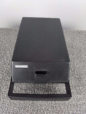 Rolodex RC-24 Index Card Portable Covered Organizing System with Handle A-Z Tab