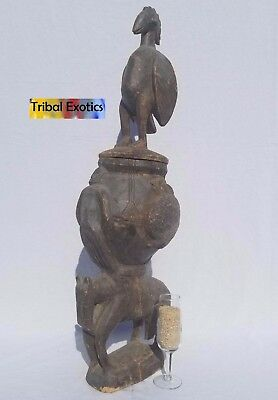 PREMIUM Tribal African Art Senufo Urn Divination Figure Sculpture Statue Mask
