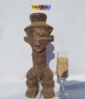 PREMIUM Tribal African Art Kuba Bushongo Male Royal Figure Sculpture Statue Mask