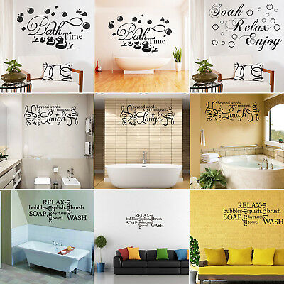 Soak Relax Enjoy Quote Wall Stickers Art Bathroom Removable Decals