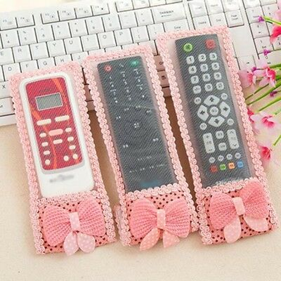 Protective TV Remote Control Air Condition Anti-Dust  Bow-knot Cover Case HE7