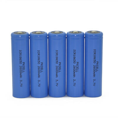 5 18650 Li-ion Rechargeable Mod Battery 2600mAh 3.7V For Flashlight Torch PKCELL