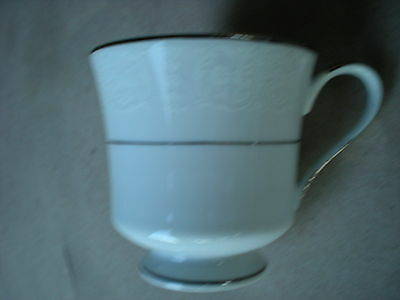 Bridal Lace Coffee Cup Royal Song China Made in Japan 3028 White on White