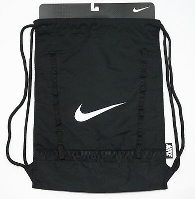 Nike Brasilia Gym Sack Drawstring Training Bag Black Backpack
