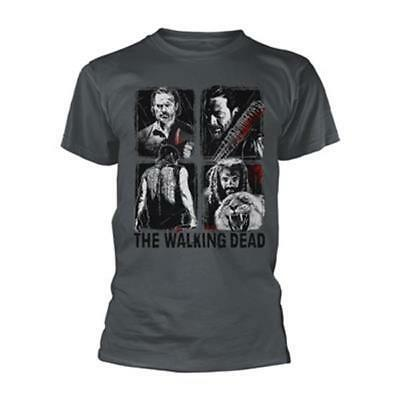 Official Licensed - The Walking Dead - 4 Characters T Shirt - Zombie Daryl Negan