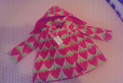 Beauty and the Bib Raincoat 6-9 months Fleece Lined with Detachable Hood NEW
