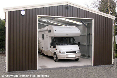 Premier Steel Building- Garage kit,Camper Van,Metal shed, workshop,prefabricated