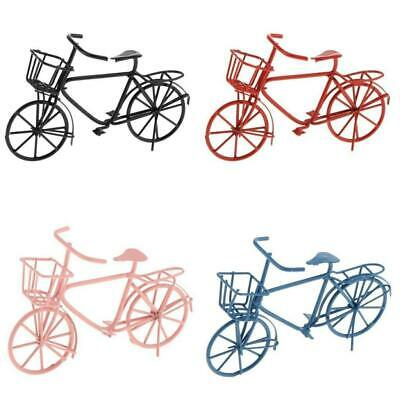 1/12 Dolls House Miniature Metal Bikle Bicycle Model Garden Outdoors Accessory