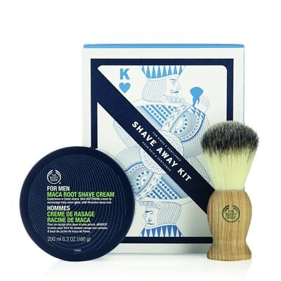 The Body Shop Shave Away Kit For Kings And Gentlemen Gift Set – Maca Root New!