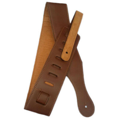 Adjustable Leather Strap Belt Soft For Electric Acoustic Rhythm Guitar Bass -hb1