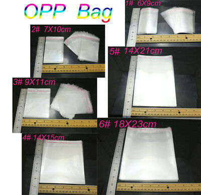 Clear Cellophane Cello Bags Plastic OPP Card Display Self Adhesive Peel Seal