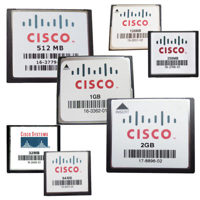 CISCO 32MB 64MB 128MB 256MB 512MB 1GB 2GB CompactFlash CF Memory Card Industrial