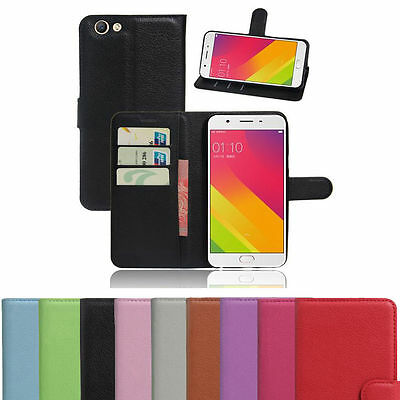 Wallet Leather Flip Card Holder Case Cover For Oppo F1s A59 Genuine AuSeller