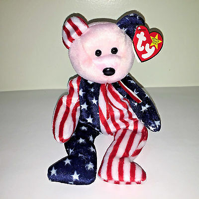 """Retired Original TY Beanie Baby Red, White & Blue """"Spangle"""" 1999 w/Tags"""
