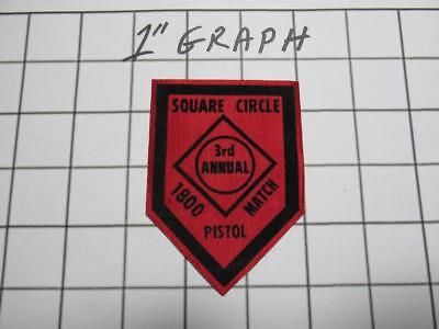 Vintage Shooting Patch - Square Circle Club 3rd Annual Pistol 1800 -Gibbsboro NJ
