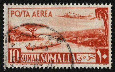 Somalia 1950-1 , 10s Air Post , Sg 254 , Sc C27 , Used
