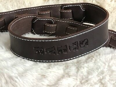 Personalized  Custom Quality Leather Guitar Strap with Name Adjustable NEW